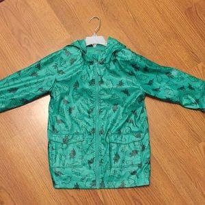 Cherokee kids lightweight dinosaur raincoat